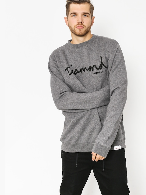 Mikina Diamond Supply Co. Og Script (gunmetal heather)