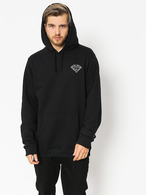 Mikina s kapucí Diamond Supply Co. Brilliant HD (black)