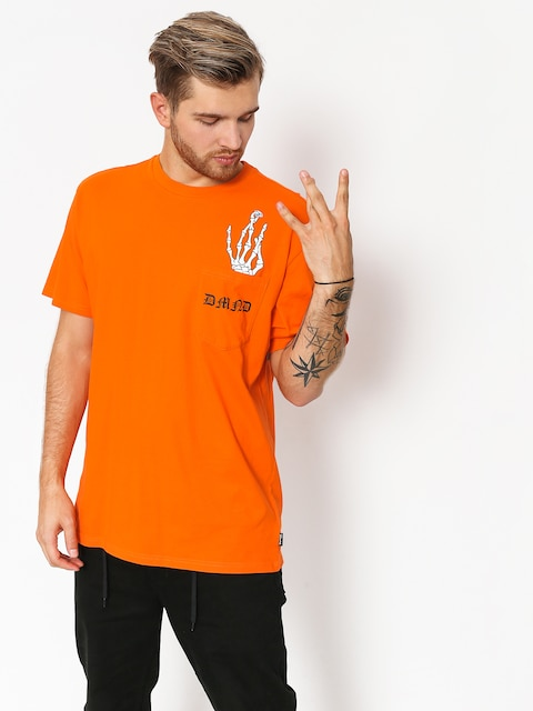 Tričko Diamond Supply Co. Hand Signs Pocket (orange)