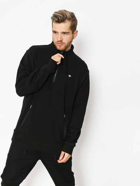 Mikina s kapucí Diamond Supply Co. Diamante Mock Neck (black)