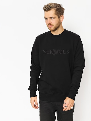 Mikina Nervous Crew Classic (black)