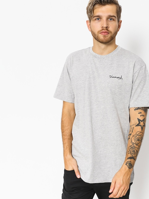 Tričko Diamond Supply Co. Micro Og Script (heather grey)