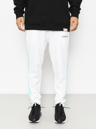 Kalhoty Diamond Supply Co. Cherry Park Warm Up Drs (white)