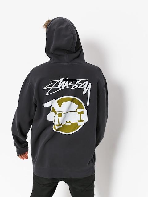 Mikina s kapucí Stussy Skateman Pig Dyed HD (black)