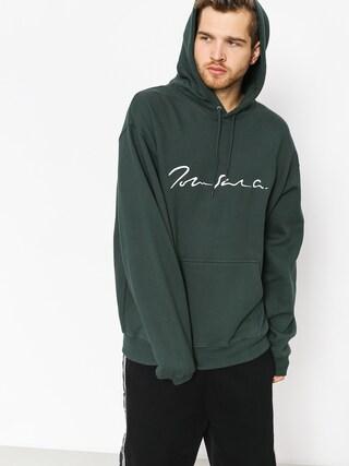 Mikina s kapucí Polar Skate Signature HD (dark green)