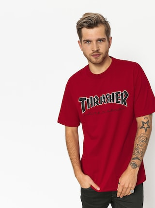 Tričko Independent x Thrasher Ttg (cardinal red)