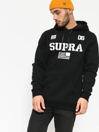 Mikina s kapucí Supra Team Usa HD (black/wht)