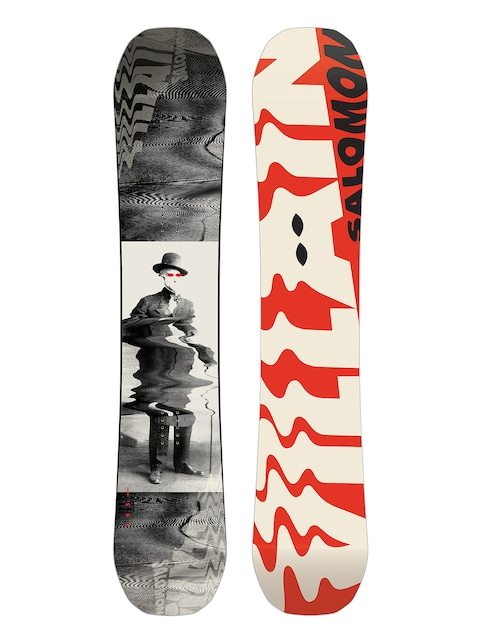Snowboard Salomon The Villain (red/white/black)