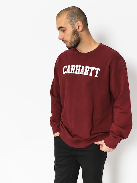 Mikina Carhartt WIP College (mulberry white)
