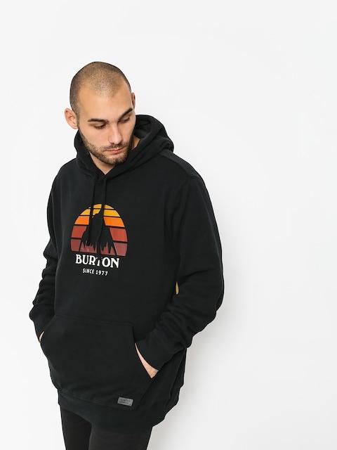 Mikina s kapucí Burton Underhill HD (true black)