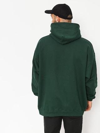 Mikina s kapucí Thrasher Davis Forest HD (green)