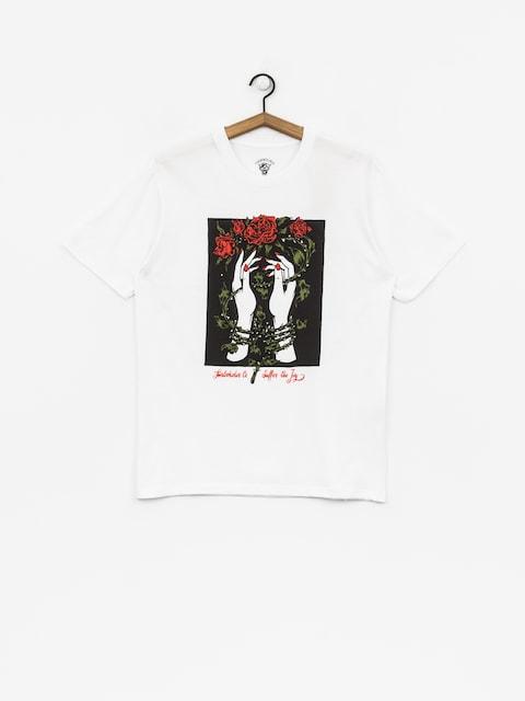 Tričko Turbokolor Roses II (white)