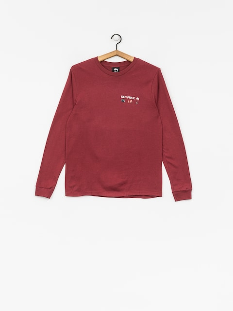 Triko Stussy Imaginary Spaces Ls Tee Wmn (wine)