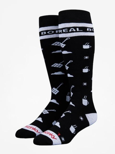 Ponožky Stinky Socks Boreal Mountain (black/white)
