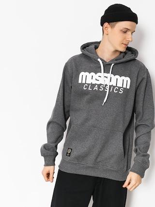 Mikina s kapucí MassDnm Classics HD (dark heather grey)