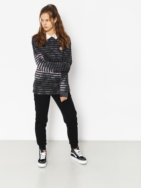 Triko Stussy Lucy Bleach Stripe Rugby Wmn (charcoal)
