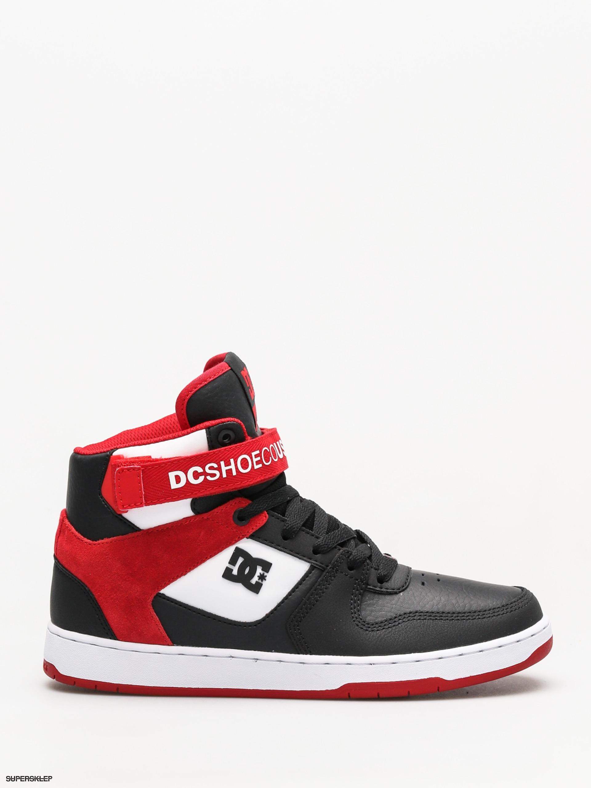 523a23db05 Boty DC Pensford (black white red)
