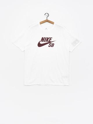 Mikina s kapucí Nike SB Sb Logo (white/white/burgundy crush)