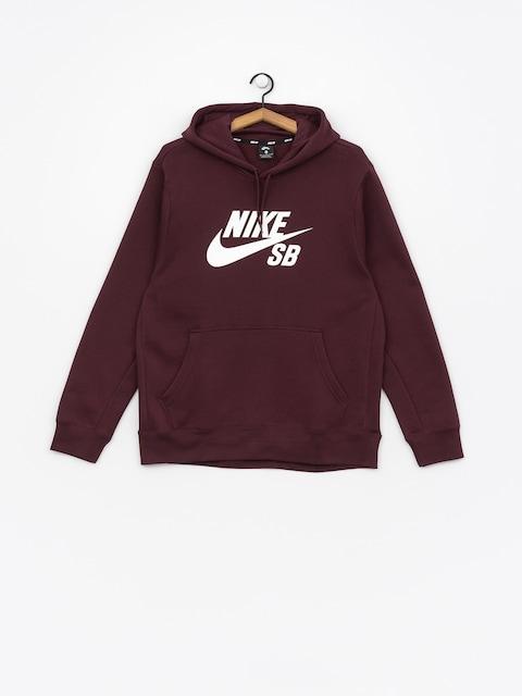 Mikina Nike SB Sb Icon (burgundy crush/white)