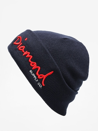 u010cepice Diamond Supply Co. Og Script Beanie (navy)