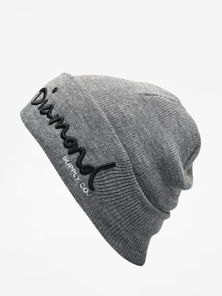 u010cepice Diamond Supply Co. Og Script Beanie (gunmetal heather)