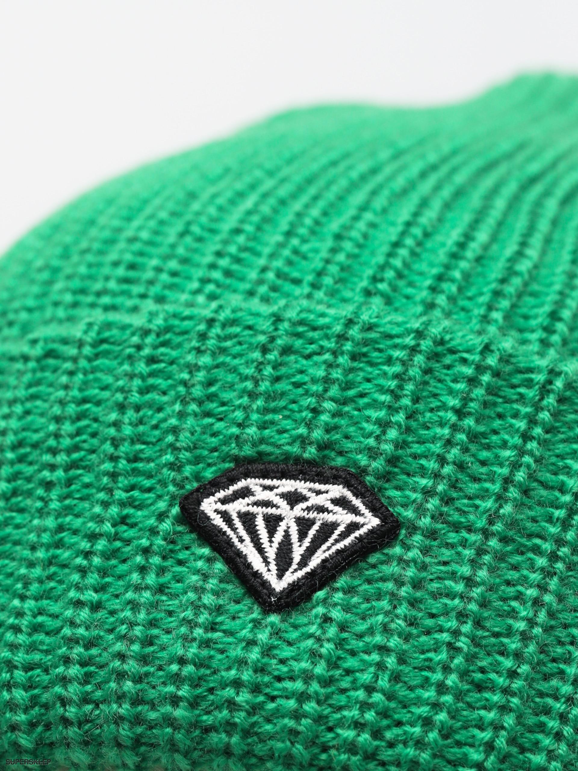 11f08ec300a Čepice Diamond Supply Co. Brilliant Patch Beanie (kelly green)