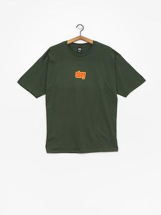 Tričko OBEY Obey 1990 (forest green)