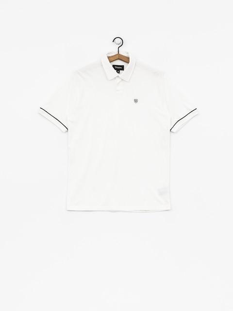 Polo tričko Brixton Carlos (white/black)