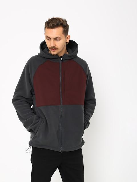 Mikina s kapucí Nike SB Sb Hoodie Fz Polartec ZHD (anthracite/burgundy crush/black)