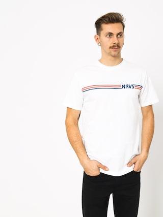 Tričko Nervous Stripes (white)