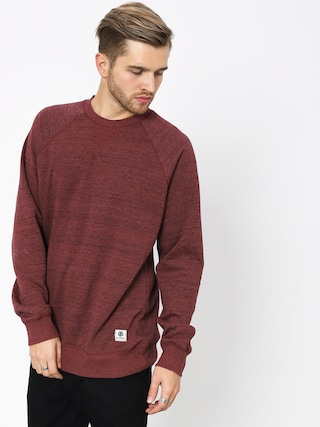 Mikina Element Meridian Crew (oxblood red)