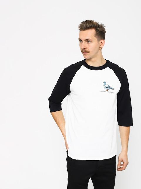 Tričko Antihero Lil Pigeon Raglan (white/black)