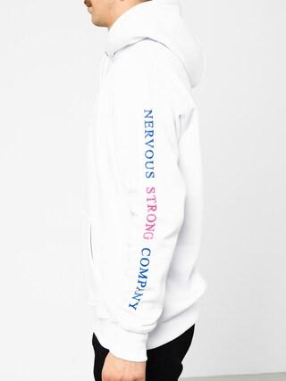 Mikina s kapucí Nervous Frame HD (white)