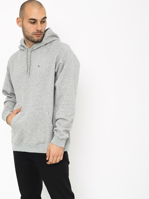 Mikina s kapucí Brixton B Shield Intl HD (heather grey)