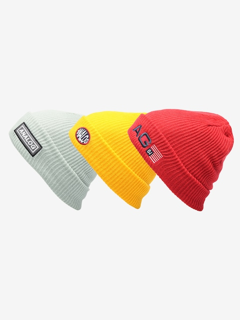 Čepice Analog Beanie 3 Pack (prored/flshbk/aquagr)