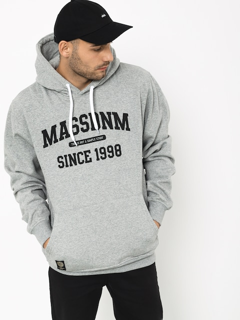 Mikina s kapucí MassDnm Campus HD (light heather grey)