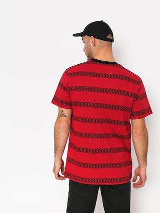 Tričko HUF Spitfire Striped Knit (red)