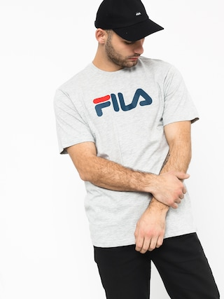 Triu010dko Fila Pure Short Sleeve Shirt (light grey mel bros)