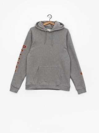 Mikina s kapucí Brixton Primo Intl HD (heather grey)