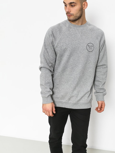 Mikina Brixton Wheeler Intl Crew (heather grey)
