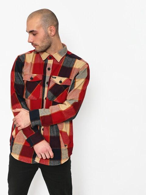Košile Brixton Durham Ls (red/navy)