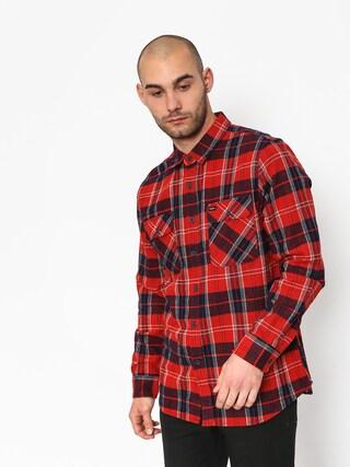 Košile Brixton Bowery Ls (red/navy)