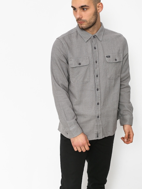 Košile Brixton Bowery Solid Ls (grey)