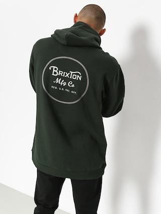 Mikina s kapucí Brixton Wheeler Intl HD (pine)