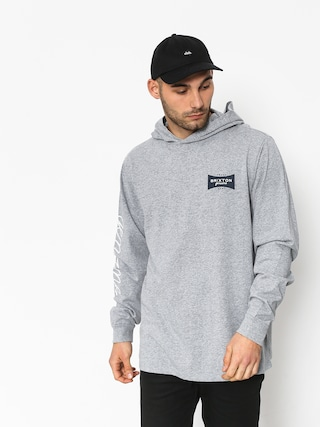 Mikina s kapucí Brixton Ramsey Sv II HD (heather grey)