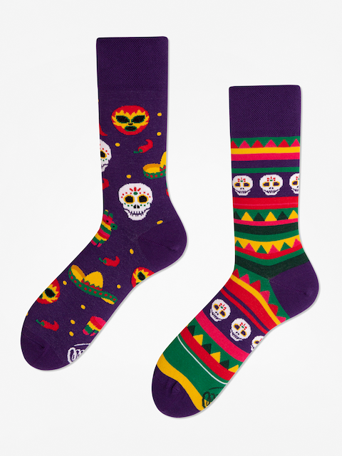 Ponožky Many Mornings Fiesta Mexicana (violet)