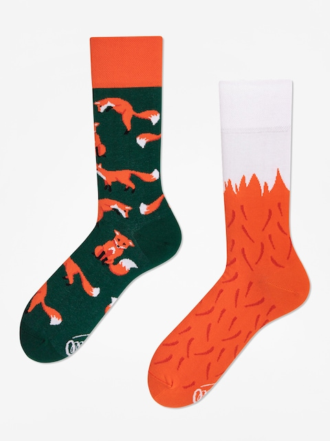Ponožky Many Mornings The Red Fox (green/orange)
