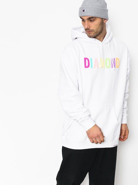 Mikina s kapucí Diamond Supply Co. Colour Pop HD (white)