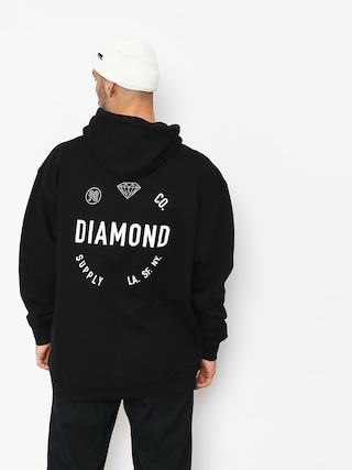 Mikina s kapucí Diamond Supply Co. Dialed Skate HD (black)