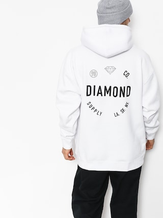 Mikina s kapucí Diamond Supply Co. Dialed Skate HD (white)